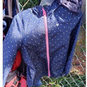 Navy blue polka dot jacket